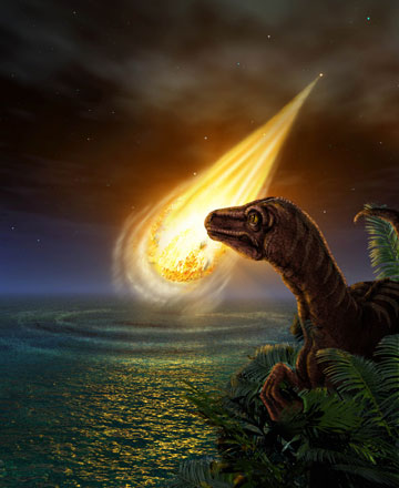 how big was dinosaur asteroid - photo #5